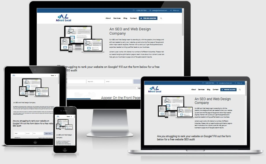 A Tacoma based SEO company designing mobile responsive websites