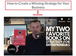 A screenshot of a video of a man discussing SEO Strategies