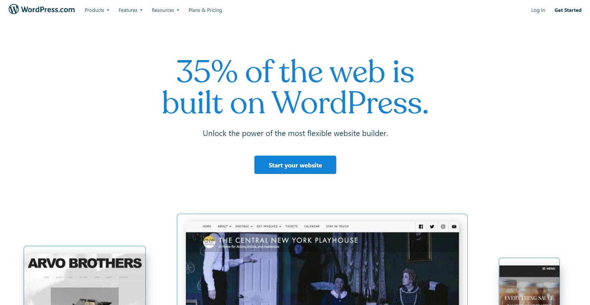A screenshot of a WordPress webpage