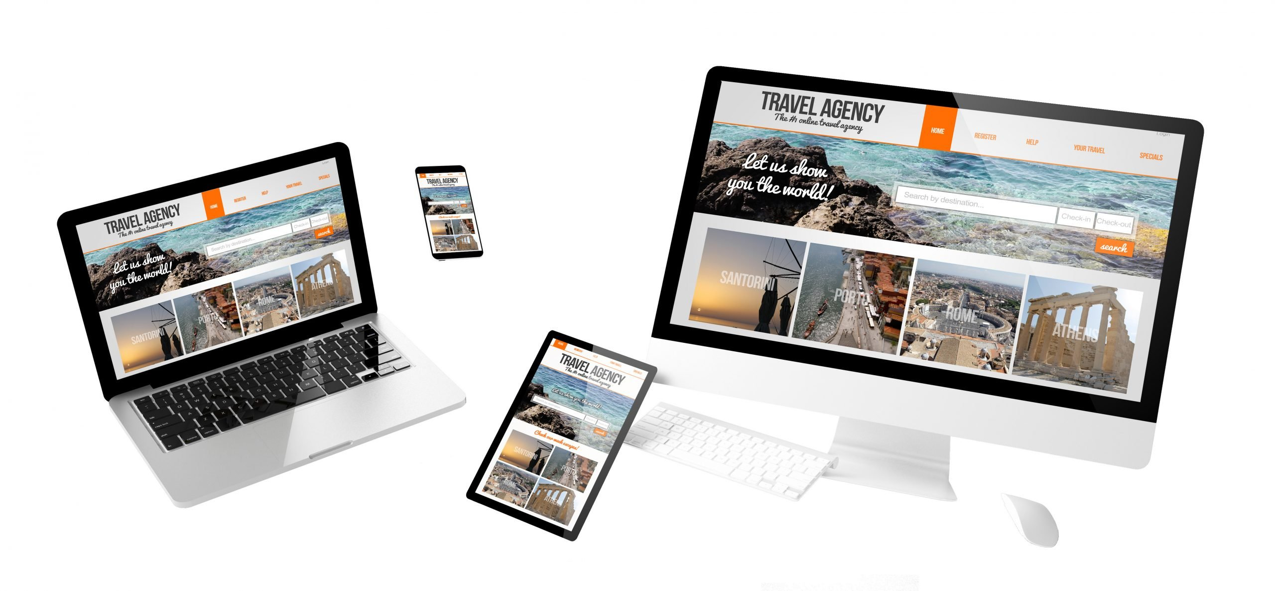 flying devices travel agency responsive website